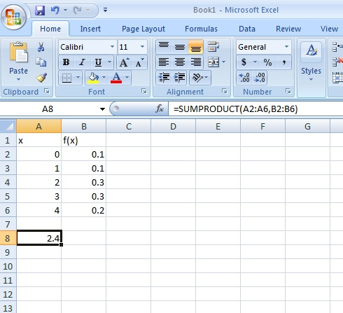 Find an expected value in Excel