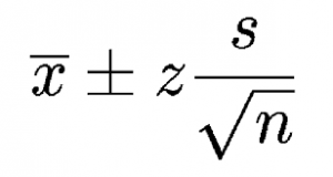 confidence interval for the mean formula