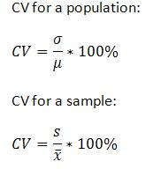 how to find a coefficient of variation