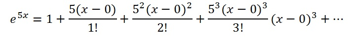 find maclaurin series e^5x