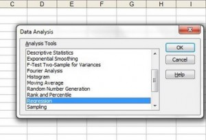 linear regression equation microsoft excel.