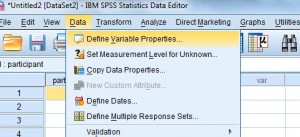 how to define variables in spss