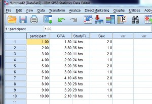 define variables in spss
