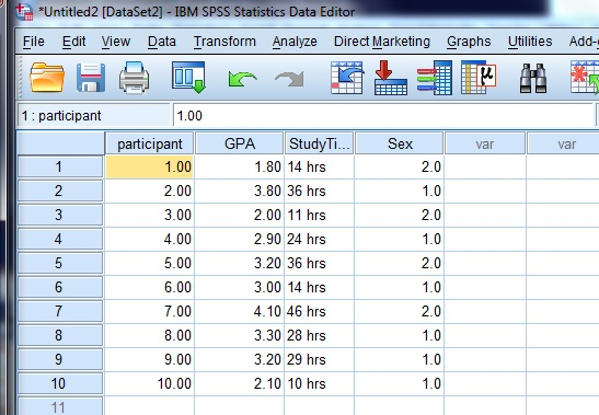 How To Enter Data Into Spss And Define Variables
