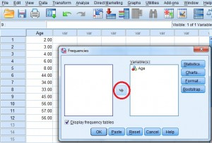 how to make a frequency table in spss