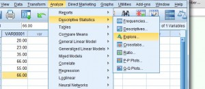 how to find the interquartile range in SPSS 1