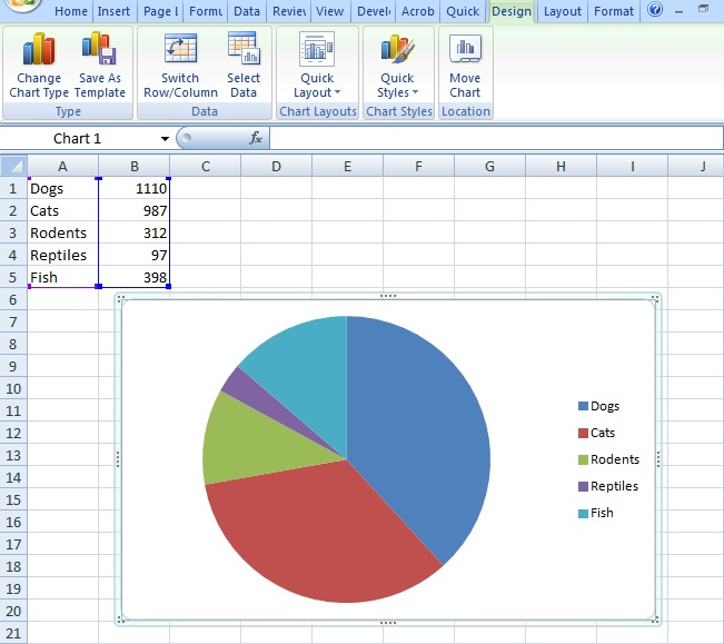 how to create a pie chart in excel 2010
