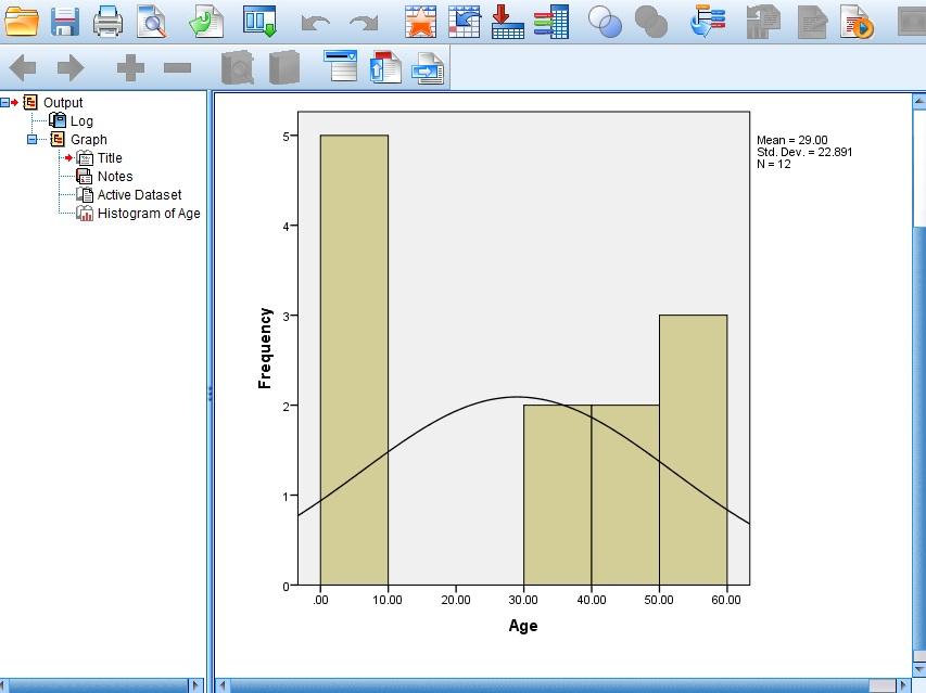 Spss Histogram 3  Blank Histogram Template