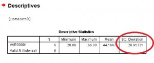 spss standard deviation