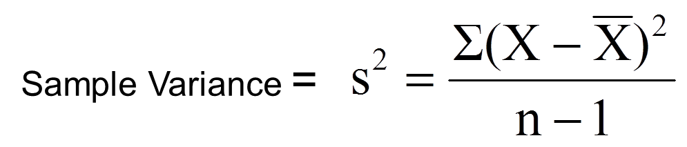 Variance formula. Image: Boston University