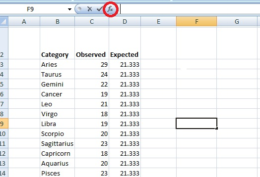 Chi Square P Value Excel: Easy Steps, Video - Statistics How To