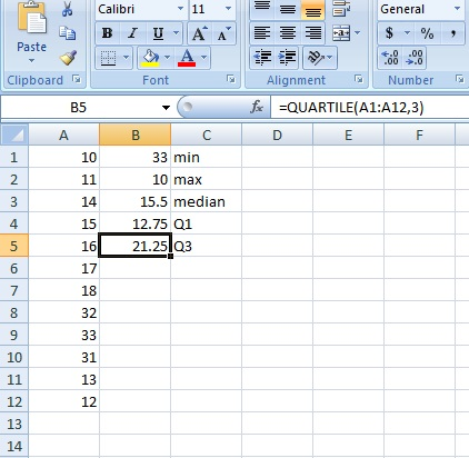 5 Number Summary In Excel