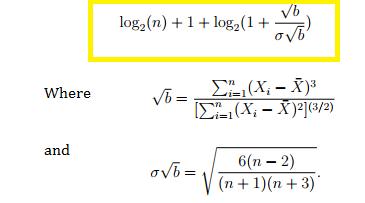 doane's formula