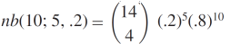 negative binomial dist 2