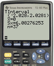 how to find t critical value on ti 83