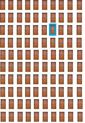 monty hall problem 100 doors