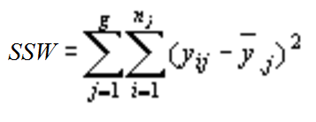 Formula for within-group variation.
