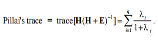 pillai's trace formula