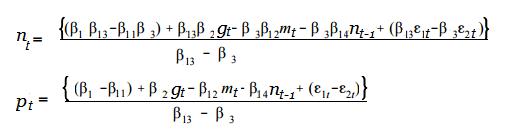 simultaneous equations model