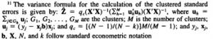 clustered standard errors