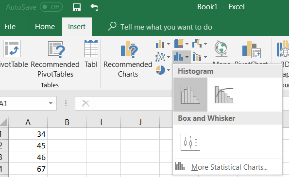 Histogram In Excel Easy Steps 2016 2013 2010 2007 Statistics How To