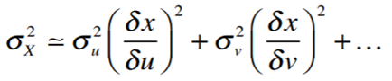 error propagation calculus